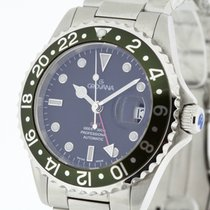 Grovana Swiss Automatic GMT Diver Watch Green Bezel NEW 2Y...