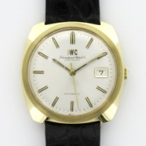 IWC Yellow Gold Vintage Automatic Strap Watch