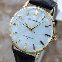 Seiko Crown Diashock 1950s Vintage Mens Japanese Gold Plated...