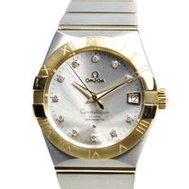 Omega Constellation 18k Gold Steel Silver Automatic 123.20.38....