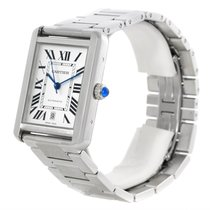 Cartier Tank Solo Xl Silver Dial Automatic Mens Watch W5200028