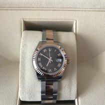 Rolex Date Just Rose Steel Ladies Watch 279171 Chocolate 2016 New