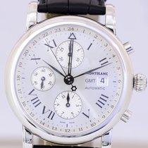 Montblanc Star Meisterstück GMT Chronograph silver roman Dial...