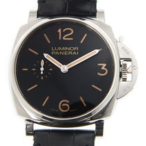 Panerai New  Luminor Stainless Steel Black Manual Wind PAM00676