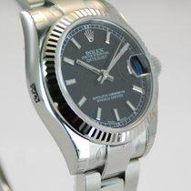 Rolex Rolex DateJust SS Fluted Bezel Black Dial-178274