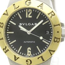 Bulgari Polished  Diagono Sport K18 Gold Steel Automatic Watch...