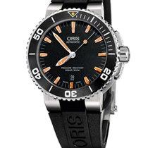 Oris Aquis Date Black Dial Rubber Strap Mens Watch 73376534159RS