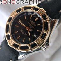 Breitling LADY J Acier lunette OR montre DAME quartz D52065