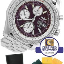 Breitling Bentley GT Chronograph Bordeaux Burgundy Stainless...