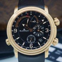 Blancpain Alarm GMT 18K Rose Gold / Rubber