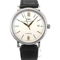 IWC Portofino Automatic White Steel/Leather 40mm