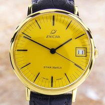Enicar Swiss Made Men's Rare Gold Plated Automatic 1960s...