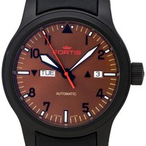 Fortis B-42 Aeromaster Dusk Automatic Day/Date Steel Mens...