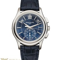 Patek Philippe Annual Calendar Chronograph Platinum Blue Dial...