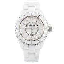 Chanel J12 White Ceramic&Steel, Diamond Indicators