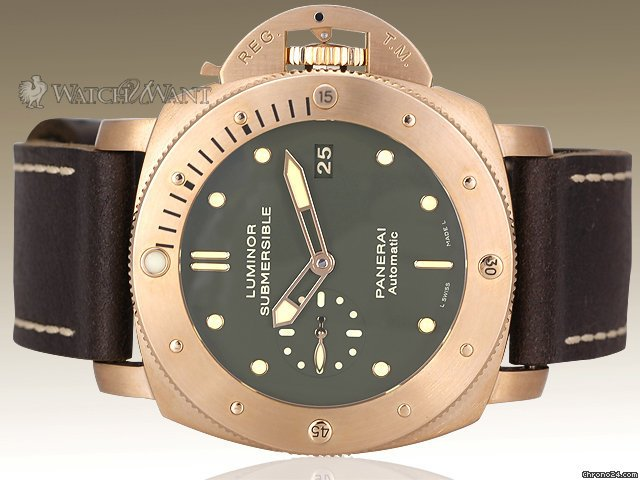Panerai PAM 382 BRONZO&amp;#34; - Luminor 1950 Submersible 3-Days Automatic - 47mm Bronze Case - Special Edition 1000 Pieces - Brand New &amp;amp; JUST RELEASED