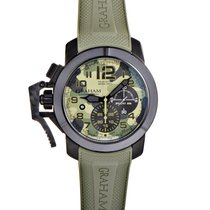 Graham Chronofighter Oversize Black Arrow Green Celsius...