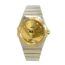 Omega Constellation 18k Gold Steel Gold Automatic 123.20.38.21...