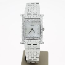 Hermès 'H' Hour Full Steel DiamondSetting MOP.DiamondD...