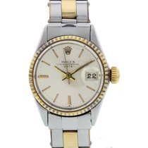Rolex Oyster Perpetual Date 18K YG/SS 6517