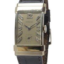 Hamilton Top Hat Watch - 14k White Gold Case - Diamond