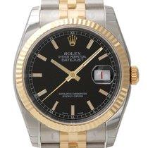 Rolex Datejust 36mm Stahl/Gelbgold Ref. 116233 Schwarz Index
