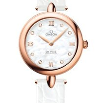 Omega 42453276055002 De Ville Prestige Pearl Diamonds Ladies