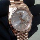 Rolex Day-Date 40 Gold Sundust Stripe Dial Sticks