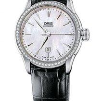 Oris Artelier Date Automatic Steel & Diamond Womens Watch...
