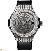 Hublot Big Bang 41 mm Steel Diamonds Black Rubber Caviar...