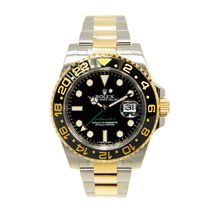 Rolex Gmt-master II Gold And Steel Black Automatic 116713LN