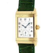 Jaeger-LeCoultre Reverso 256.1.75 Yellow Gold, Diamonds, Leather
