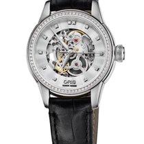 Ορίς (Oris) Oris Artelier Skeleton Diamonds Steel 31mm Leather...