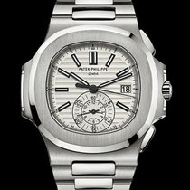 Patek Philippe [SPECIAL DEAL] Nautilus Chronograph White Dial...