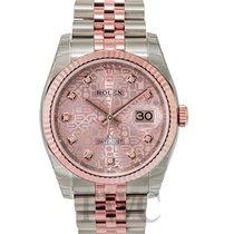 Rolex Datejust Pink 18k Rose Gold/Steel G Jubilee 36mm - 116231