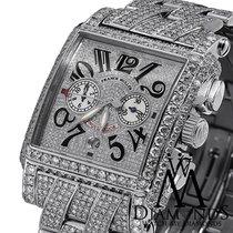 Franck Muller Mens Diamond  Luxury Watch Pave Conquistador...