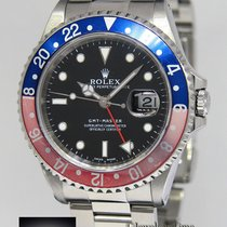 Rolex GMT-Master Stainless Steel Pepsi Blue/Red Mens Watch 16700