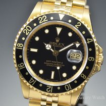 Rolex GMT-Master II 18K Yellow Gold Black Dial 40MM 16718