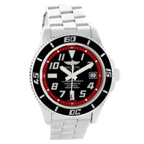Breitling Superocean 42 Abyss Black Red Dial Steel Mens Watch...