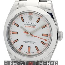 Rolex Milgauss Stainless Steel 40mm White Dial Ref. 116400