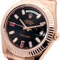 Rolex 18K 41mm Day-Date ll Factory 8+2 Baguette Diam 218235