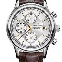 Maurice Lacroix Les Classiques Chronographe Silver Dial, Brown...