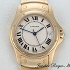 Cartier Santos Ronde Gelbgold 750 Datum Automatik Gross