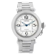 Cartier Pasha C Medium Automatic White Dial Steel Watch W31074m7