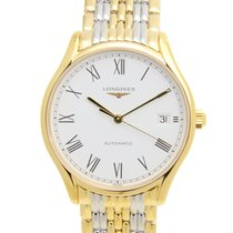Longines Lyre Pvd Gold White Automatic L4.860.2.11.7