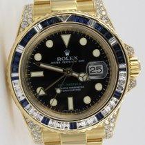 Rolex GMT-Master II Diamond & Sapphire Gelbgold 116758