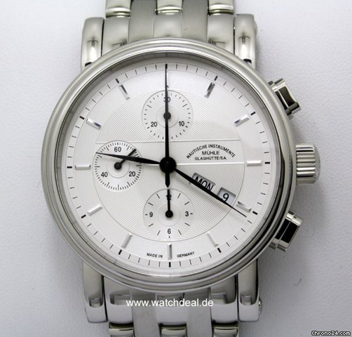 Mhle Glashtte Teutonia II Chronograph NEU incl MWST mit B+P