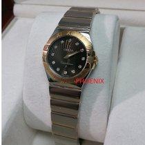 Omega Constellation diamond red gold/steel 12320276063002