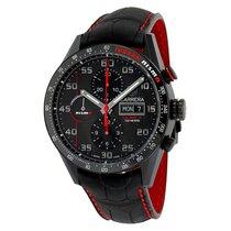 TAG Heuer Calibre 16 Automatic Chronograph Black Dial Black...
