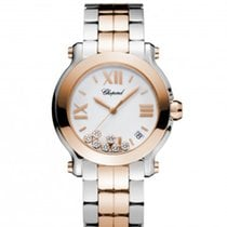 Chopard 278488-9002 Happy Sport 36mm Gold DIamonds Lady